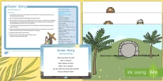 Easter Story Small World Play Idea and Printable Resource Pack