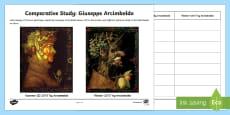 * NEW * Arcimboldo Comparative Study Activity Sheet