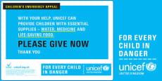 Unicef Emergency Collection Bucket Label