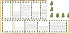 Horse Chestnut Tree Themed Page Borders