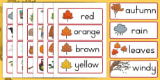 Australia - Autumn Word Cards