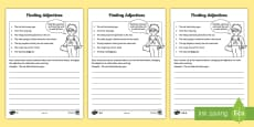 Finding Adjectives Activity Sheet