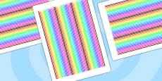 Rainbow Themed Display Borders Stripes