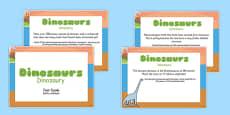 Dinosaur Display Fact Cards Polish Translation