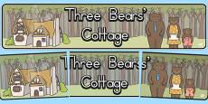 Three Bears Cottage Display Banner