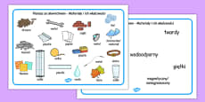 Materials and Their Properties Word Mats Polish