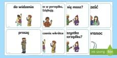 Karty A5 Podstawowe słowa i zwroty grzecznościowe