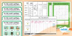 PlanIt Y1 Term 1B Bumper Spelling Pack