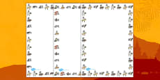 Chinese New Year Animal Symbols Page Borders