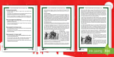 First World War: The Christmas Truce Differentiated Reading Comprehension Activity