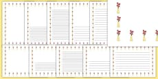 Tulips Page Borders