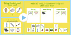 Sorting Living Things and Non Living Things Science Lesson PowerPoint Teaching Pack