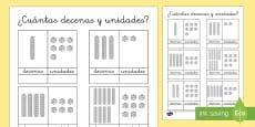 Ficha -  Decenas y unidades