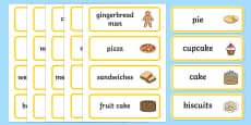 Bakery Word Cards