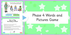 Phonics Words and Pictures Game Phase 4