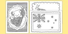 Australia Mindfulness Colouring Sheets