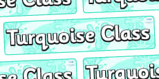 Turquoise Themed Classroom Display Banner