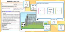 Football Preposition Game Adult Led Focus Resource Pack