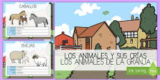 PowerPoint Los animales de la granja y sus crías