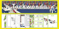 The Olympics Taekwondo Resource Pack
