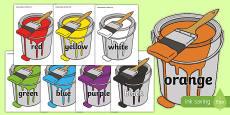Colour Names on Paint Tins