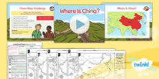PlanIt - Geography Year 2 - Let's Go to China Lesson 1: Where Is China? Lesson Pack