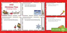 LKS2 Time Christmas  Differentiated Maths Challenge Cards