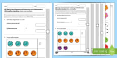 CfE Early Level Assessment Numeracy and Mathematics   Information Handling Activity Sheet