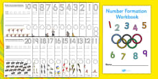 The Olympics Number Formation Workbook (0-20)