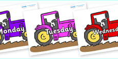 Days of the Week on Tractors