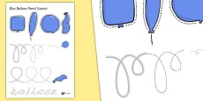 Pencil Control Activity Sheets to Support Teaching on The Blue Balloon