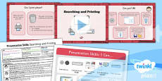 PlanIt - Computing Year 2 - Presentation Skills Lesson 6: Searching and Printing Lesson Pack
