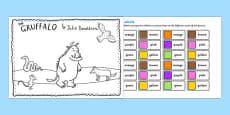 The Gruffalo Colour Labels Activity
