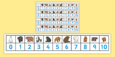 Bears Number Track (1-10)