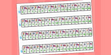 Elf Themed Number Lines 0-20