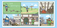 Dick Whittington Story Sequencing Cards