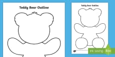 Teddy Bear Outline Activity Sheet