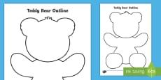Teddy Bear Outline Activity Sheet