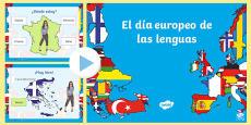 Países del día Europeo de las lenguas PowerPoint