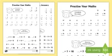 Practise Your Maths Skills Addition and Subtraction Activity Sheet