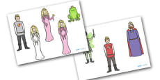 The Frog Prince Stick Puppets