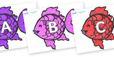 A-Z Alphabet on Fish to Support Teaching on The Rainbow Fish