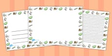 Landscape Page Borders to Support Teaching on Jasper's Beanstalk