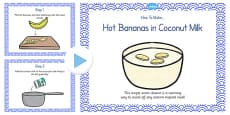 Hot Bananas in Coconut Milk Recipe PowerPoint
