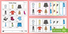 Clothes Themed Bingo