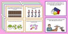 Fracții - Cartonașe cu probleme