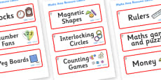 Magnolia Tree Themed Editable Maths Area Resource Labels