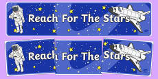 Reach For The Stars Motivational Display Banner