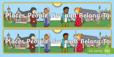 * NEW * Places People Live and Belong To Display Banner
