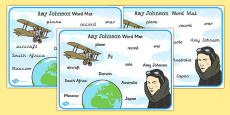 Amy Johnson Word Mat